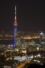 Auckland New Zealand Sky Tower at Night