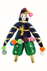 colourful doll isolated