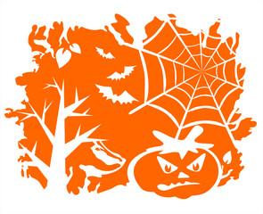 Orange halloween background