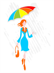 Woman with a umbrella