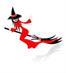 Pretty flying witch