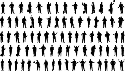 80 Vector Businessmen silhouettes
