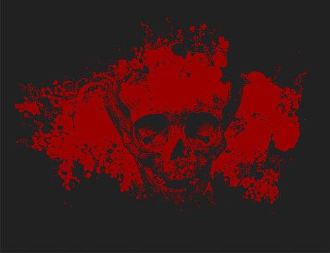 Zombie skull illustration