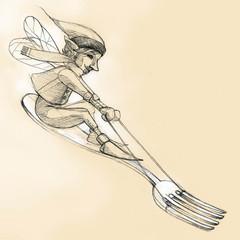 course fourchette