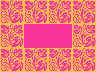 cadre rose/orange
