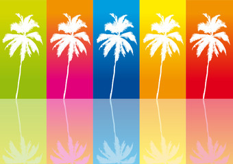 Palms on differently background