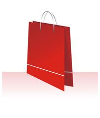Elegant bag for shopping red color