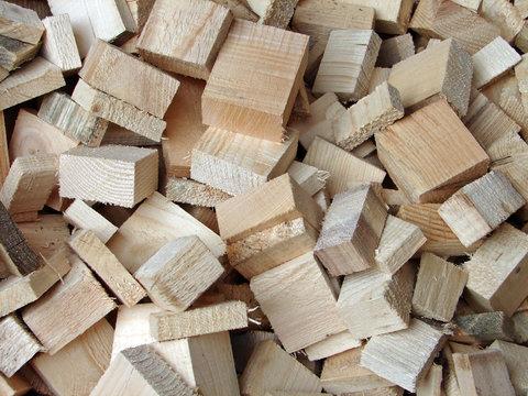 chutes de bois