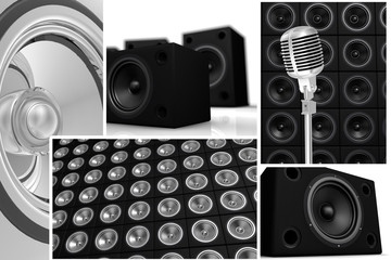 speakers and microphone