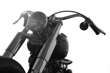 Custom motorbike on a white background