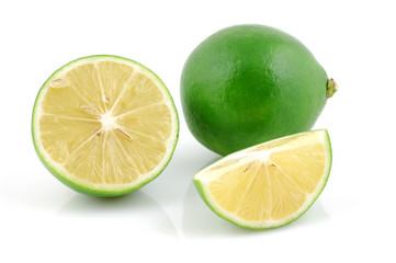 Fresh lime and halved