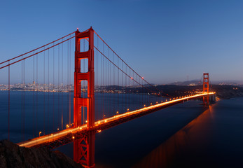 Golden Gate Bridge in the Dusk Pano 1