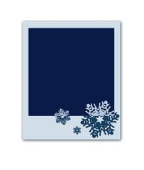 Christmas polaroid with snowflakes