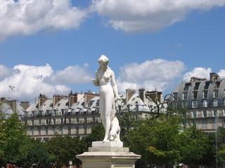 Statue in the Tuileries Garden in Paris