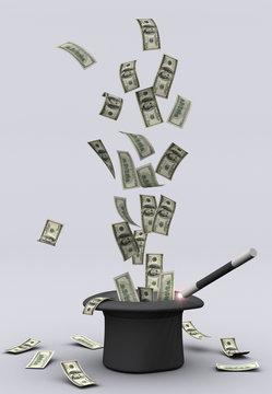 Magic wand and money