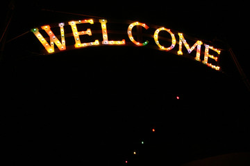 Welcome in lights
