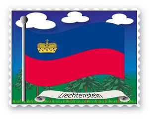 Briefmarke Liechtenstein