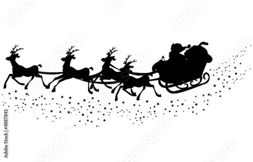 【車ステッカー】サンタさんシルエット