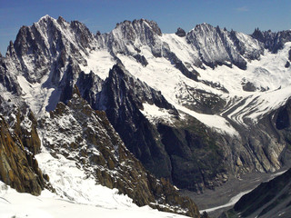 Panorama from the Mont Blanc