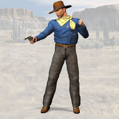 Sheriff #02, wild west series, with clipping path