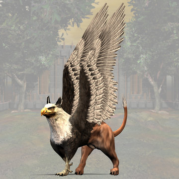 Griffin #01, fantasy series, with clipping path