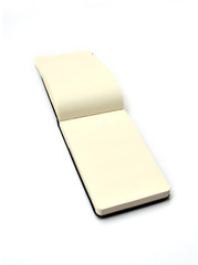 Isolated notepad in white background