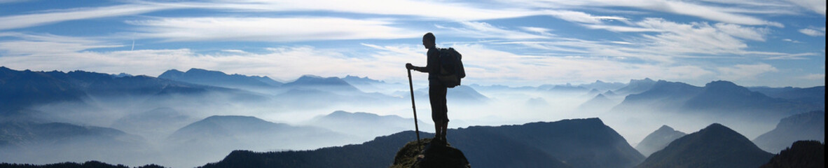 Fototapeten Gebirge Randonnée en montagne