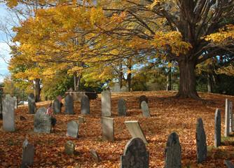 Printed kitchen splashbacks Cemetery Old Cemetery in October