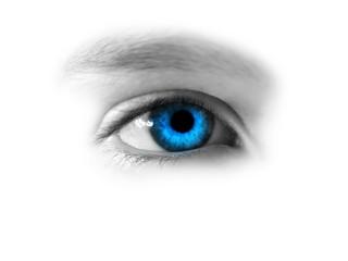 gazing blue eye
