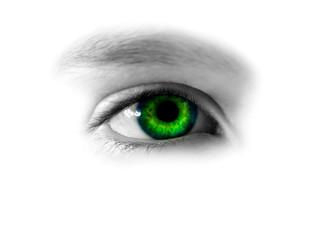 gazing green eye
