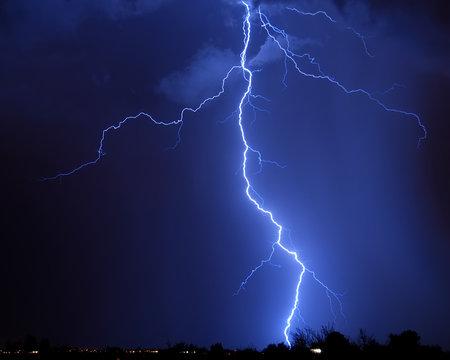 Lightning over the city - Tucson, AZ