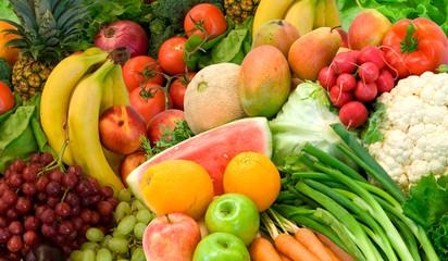 In de dag Keuken Vegetables and Fruits Arrangement