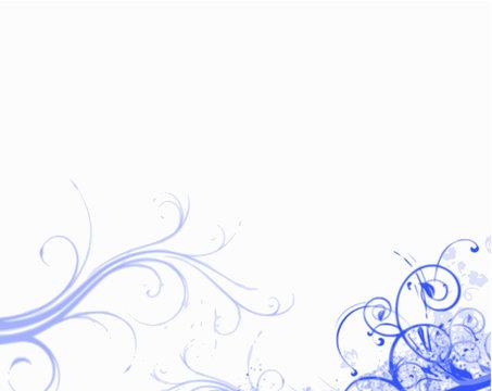 arabesques bleues