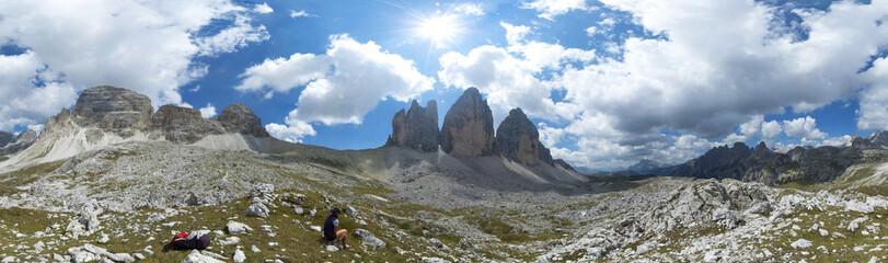 Drei Zinnen in Südtirol (Dolomiten, Alpen)