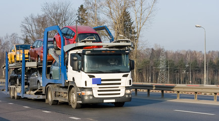 "car carrier truck deliver batch of ""Trucks"" series"