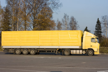 "blank yellow  trailer truck of ""Trucks"" series in my portfolio"