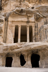 Facade at Little Petra Jordan