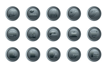 set of vector round icons for a design