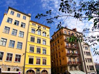 Immeubles colorés, Lyon, France