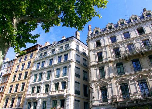 Immeubles classiques lyonnais, France