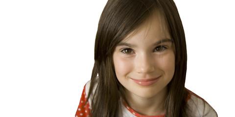 child girl smiling face