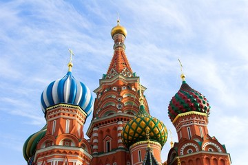 St. Basil's Cathedral on Red square, Moscow, Russia