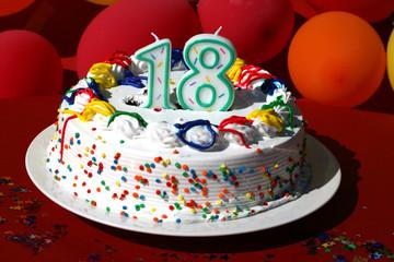 Birthday Cake - Eighteen