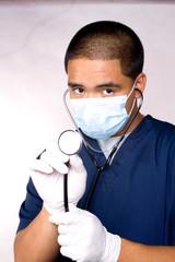Close stethoscope