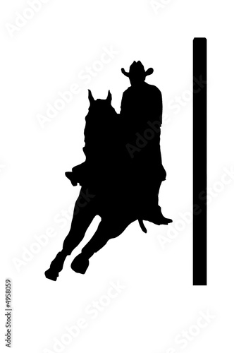 quotcowgirl pole bendingquot stock photo and royaltyfree images