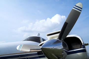 Business plane propeller Retro style