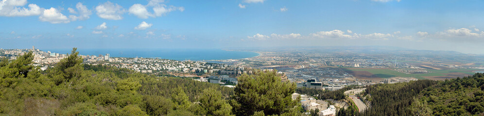 Panorama of Haifa city, Israel