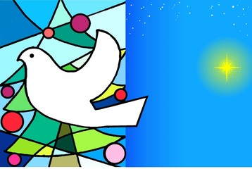 Cartão de Natal em Mosáico