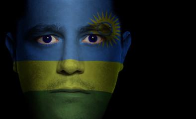 Rwandan Flag - Male Face