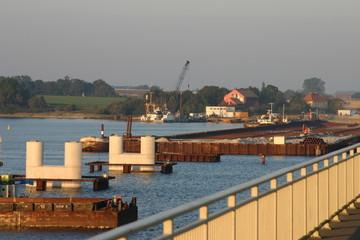 Bau der Rügenbrücke 07. Oktober 2005